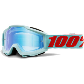 100% Accuri Anti Fog Mirror goggles turquoise